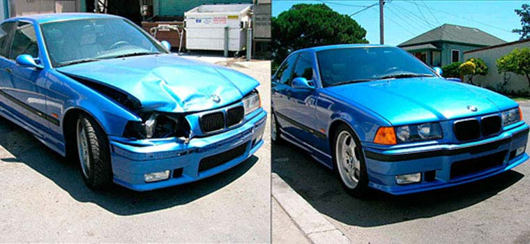 Auto Body Repair Job - Before and After Photo